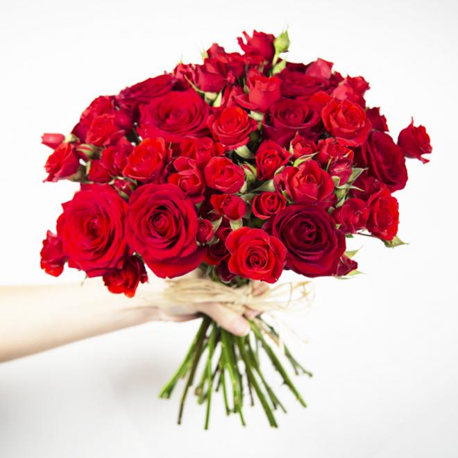 Bouquet de roses Moscou