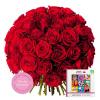 Coffret des Amoureux - Livraison fleurs Saint Valentin roses rouges + chocolats