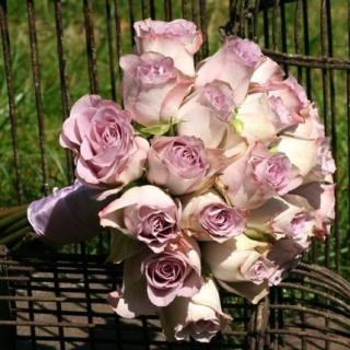Bouquet de mariée Romantique parme