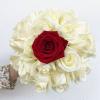 Bouquet Buenos Aires - roses blanches et rouges