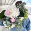 Bouquet d'hortensias et pivoines