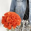 Bouquet de roses orangées sur mesure - Livraison fleurs
