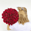 Bouquet de roses rouges sur mesure  - choisissez votre quantité de roses rouges