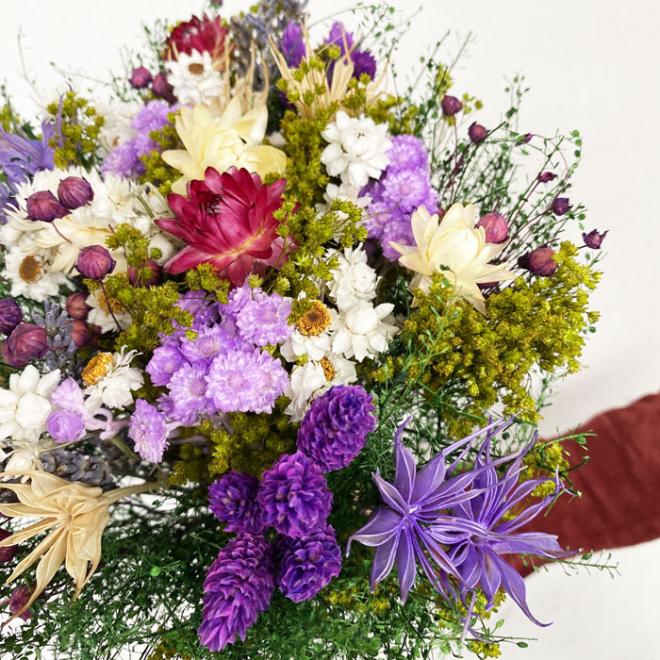 Bouquet sec parme
