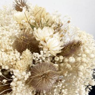 Bouquet sec ivoire