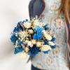 Bouquet sec bleu