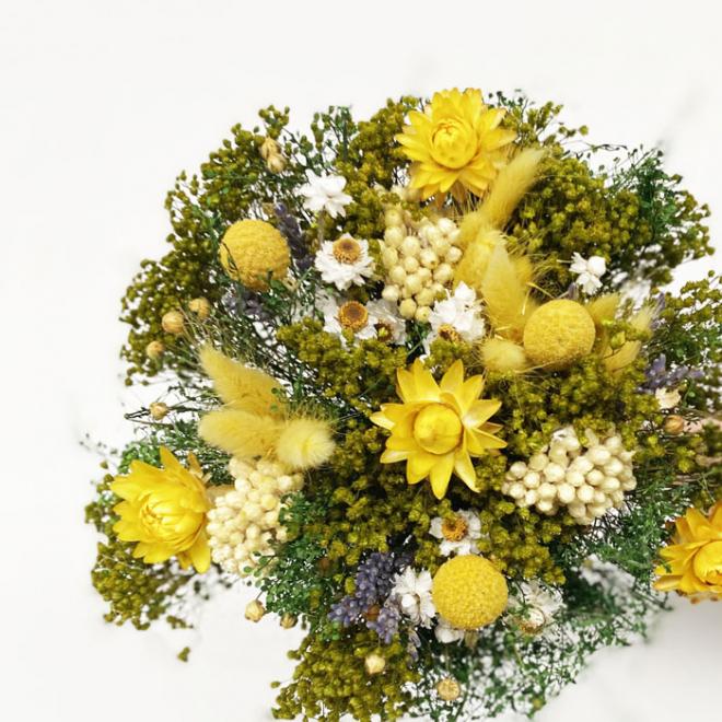 Bouquet sec jaune