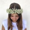 Couronne cheveux gypsophile Lola - France Fleurs