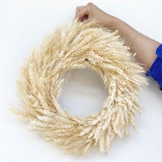 Couronne de blé séché - couleur naturelle.