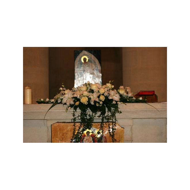D coration d 39 glise 25 france fleurs for Decoration eglise