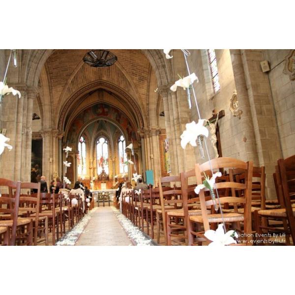 D coration d 39 glise pour mariage fleurs mariage for Decoration eglise