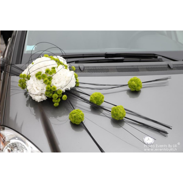 d coration voiture mariage fleuriste mariage france. Black Bedroom Furniture Sets. Home Design Ideas