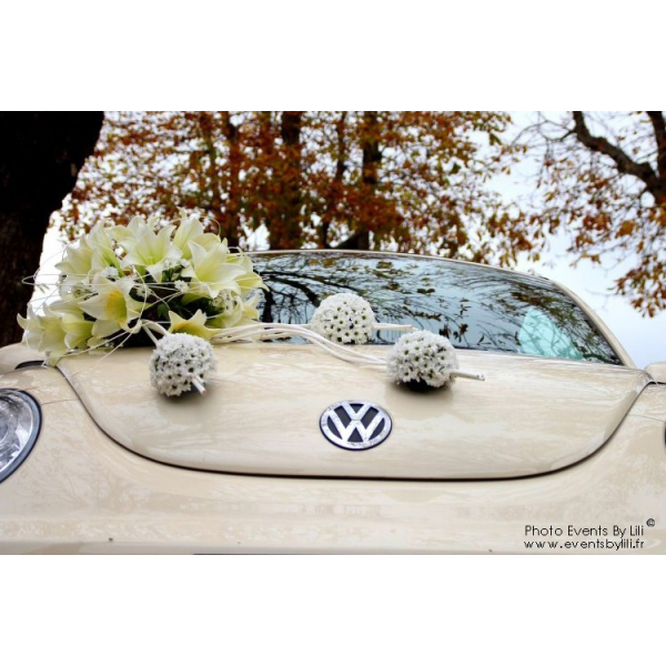 D coration voiture mariage fleuriste id es et d - Prix decoration voiture mariage fleuriste ...