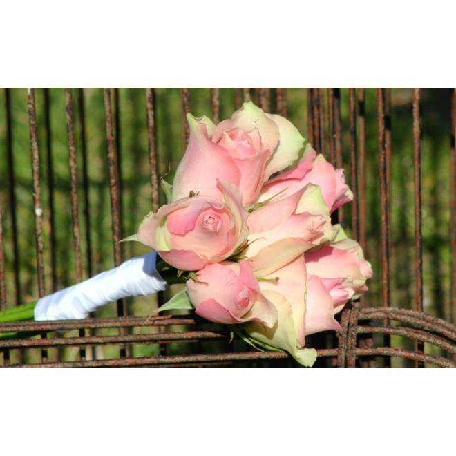 Bouquet demoiselle d'honneur Romantique rose