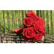 Bouquet demoiselle d'honneur Romantique rouge