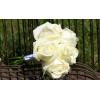 Bouquet demoiselle d'honneur Romantique blanc