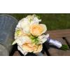 Bouquet demoiselle d'honneur Champêtre pêche
