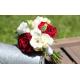 Bouquet demoiselle d'honneur Champêtre rouge