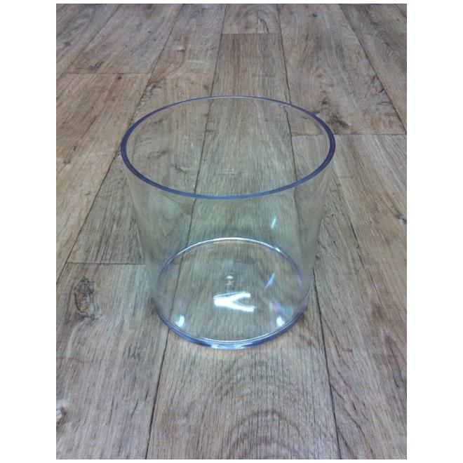vase tube plexiglas cylindrique transparent 15 cm x 15 cm contenant en plastique france fleurs. Black Bedroom Furniture Sets. Home Design Ideas