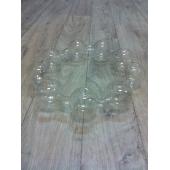 Couronne 9 soliflores en verre