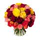 Bouquet 40 roses variées - Livraison roses - France Fleurs