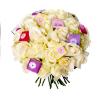 Bouquet Gourmand Blanc (30 roses) - France Fleurs