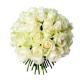Bouquet 40 roses blanches - France Fleurs