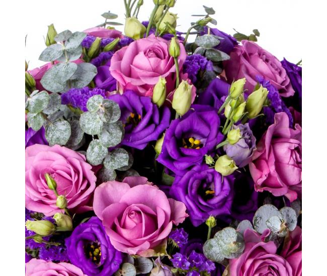 Bouquet de Lisianthus - livraison roses et lisanthus pas chers - France Fleurs