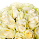 Bouquet 30 roses blanches