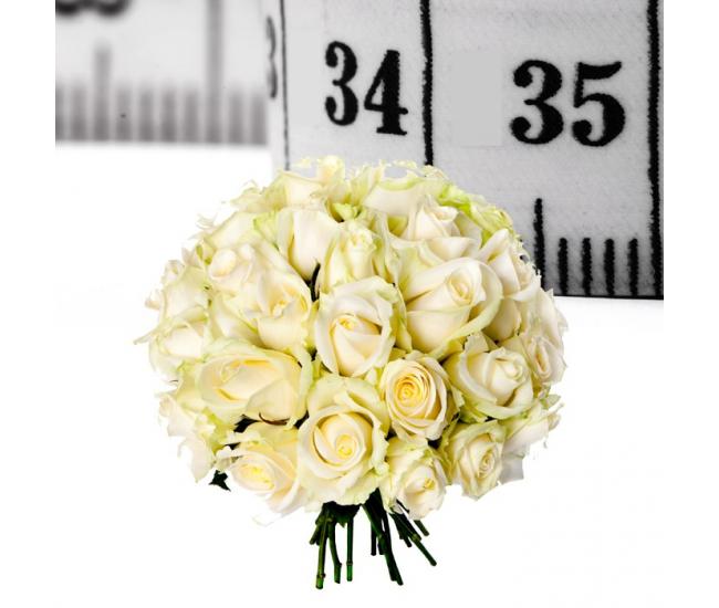 Bouquet de roses blanches sur mesure livraison bouquet for Bouquet de fleurs pour 70 ans
