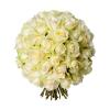 Bouquet 50 roses blanches -Livraison de roses - France Fleurs