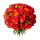 Bouquet 40 roses orangées - Livraison roses oranges - France Fleurs