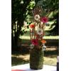 Exemple de composition florale à base de germini fushia.