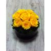 Le Cercle jaune - roses stabilisées jaunes - France Fleurs