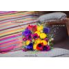 Bouquet de mariée à base d'anémones, de renoncules et de panicum - Crédit Photo Lorele Photographie
