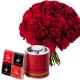 Coffret Aphrodisiaque - livraison fleurs saint valentin - France Fleurs