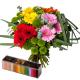 Coffret Graphique - coffret fleurs et chocolats - France Fleurs