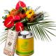 Coffret Exotique - Livraison fleurs exotiques, thé et chocolats - France Fleurs
