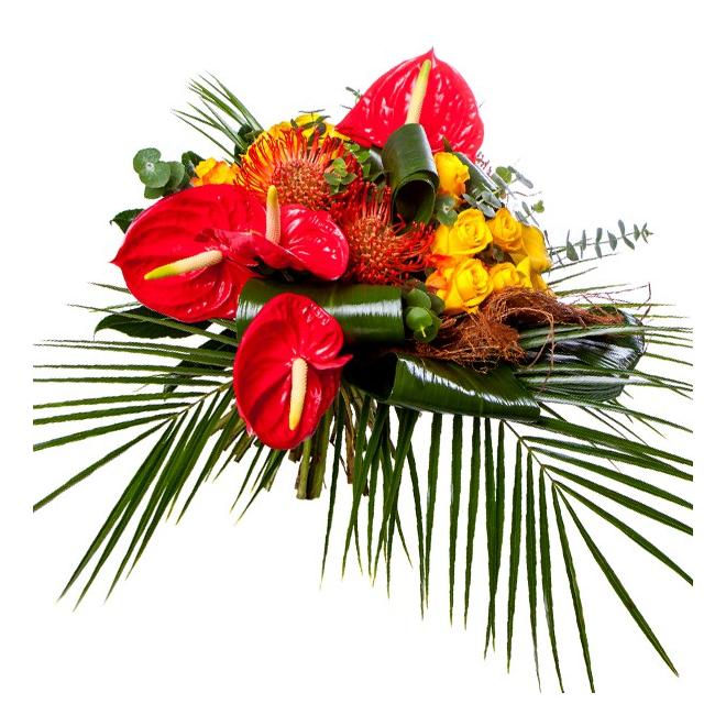 bouquet exotique livraison de fleurs exotiques france fleurs. Black Bedroom Furniture Sets. Home Design Ideas