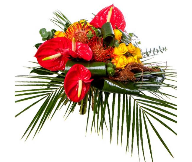 Bouquet exotique livraison de fleurs exotiques france for France fleurs