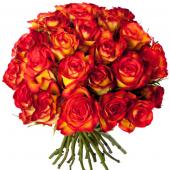 Bouquet 30 roses orangées