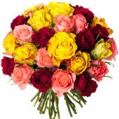 Bouquet 30 roses variées