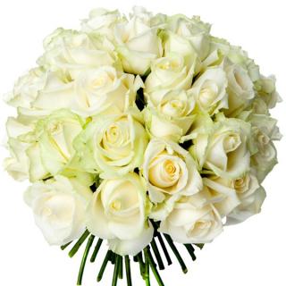 Bouquet 40 roses blanches - livraison de fleurs - France Fleurs