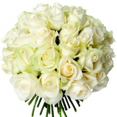 Bouquet 40 roses blanches