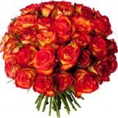 Bouquet 40 roses orangées