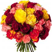 Bouquet 40 roses variées
