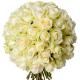 Bouquet 50 roses blanches - livraison fleurs blanches - France Fleurs