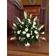 Composition d'église à base de muflier - France Fleurs