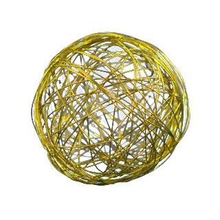 Boule métal jaune