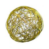 Boules métal 8 cm jaunes (9 pièces)